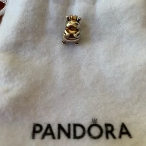 Pandora queen bee gold and silver charm